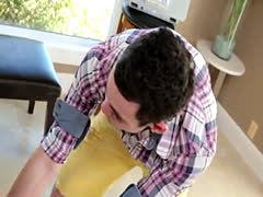 Dicksucking twink drilling his teen boyfriend