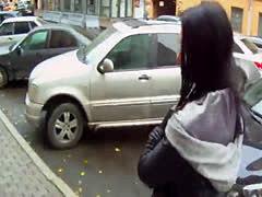 Alluring babe pov fucked in public on spycam