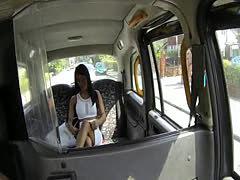 Real ebony babe dickriding taxi driver