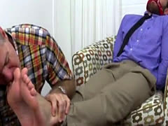On standing gay porn Chase LaChance Tied Up, Gagged & Foot Worshiped