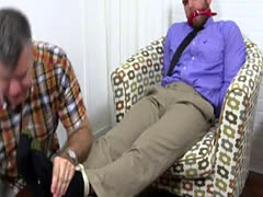 Lights skin harry gay men having sex Chase LaChance Tied Up, Gagged &