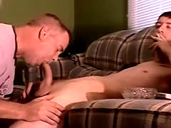 Amateur gay anal cum and homemade Servicing A Hung Straight Cock