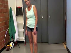 Dickloving granny tugging on younger cock