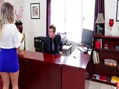 Big tits secretary sex with cumshot