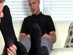 Fetish foot gay man video and gif porno feet first time Tommy Makes
