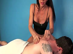 Massage loving mature jerking hard cock