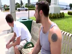 Gay sex ed of the largest cock Real red-hot gay outdoor sex