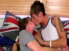 Gay cum without hands while fucked first time Kai Alexander has an