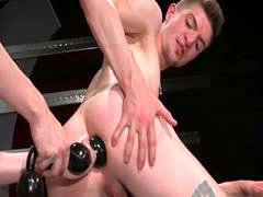 Gay twink self fisting Axel Abysse and Matt Wylde bathe each other in