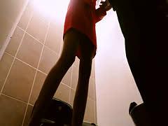 : Afro hair ebony stewardess gets slammed in the toilet