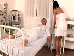 Sexy nurse cures a stiff dick