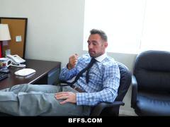 BFFS - Sexy Interns Share Their Boss's Cock