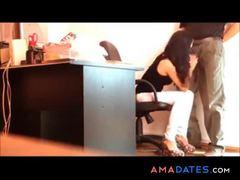 Hot Italian secretary cum off her boss