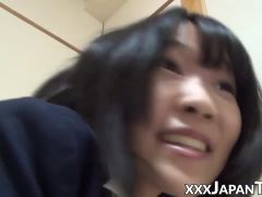 Hot Japanese schoolgirls farting into each others face
