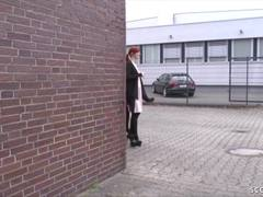 GERMAN GANGBANG with 2 Skinny 18yr old Teen and much Cum